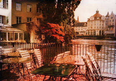 Architectur Photograph - Fall In Lucerne Switzerland by Susanne Van Hulst