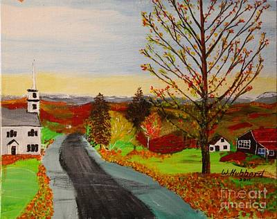 Painting - Fall In New Hampshire by Bill Hubbard