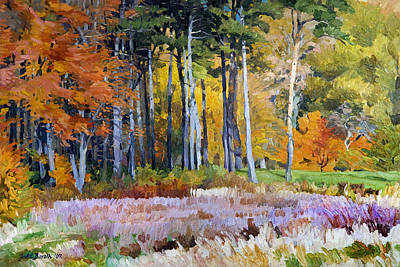 Painting - Fall In The Arboretum by Judith Barath