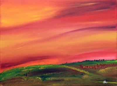 Prairie Painting - Fall In The Prairies by James Bryron Love