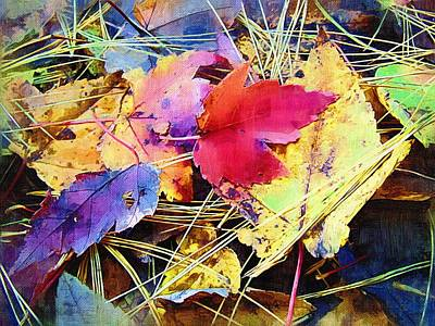 Autum Abstract Photograph - Fall Leaves 2 by Susan Lee Giles