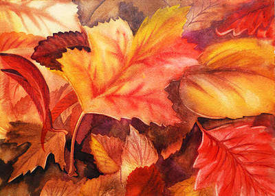 Fall Leaves Art Print by Irina Sztukowski