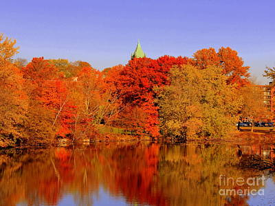 Fall On Mystic Lake Art Print