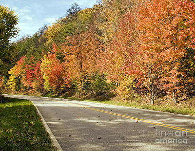 Photograph - Fall On The Cherohala Skyway Smoky Mountains by Nature Scapes Fine Art