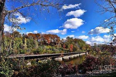 Fall On The Tracks Art Print by Craig Ebel