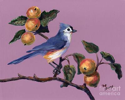 Titmouse Painting - Fall by Pat Burns