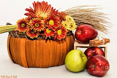 Fall Pleasures Art Print by Susan Smith