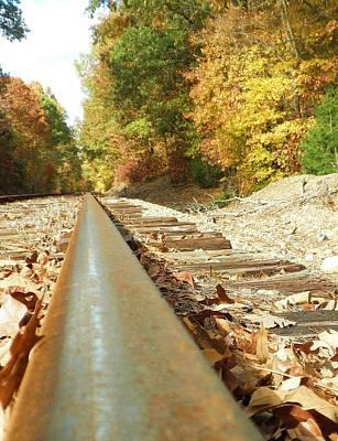 Beth Dennis Photograph - Fall Railway by Beth Dennis