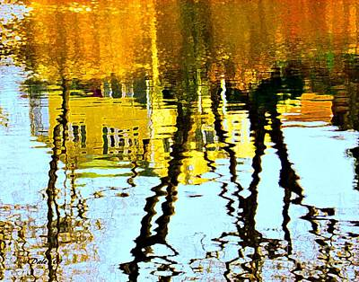Digital Art - Fall Reflections   by Dale   Ford