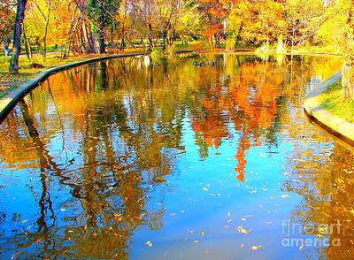 Fall Reflections Art Print by Ana Maria Edulescu