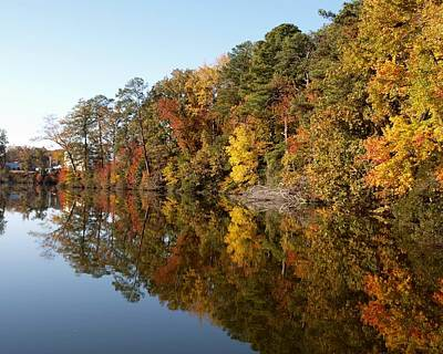 Fall Reflections Art Print by Larry Krussel