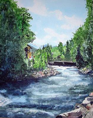 Fall River Estes Park Art Print