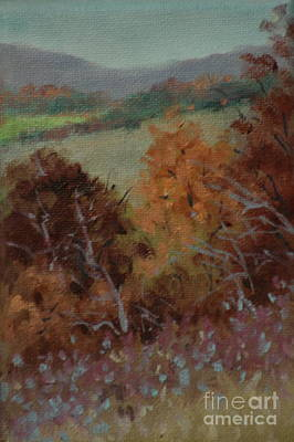 Fall Scene Art Print by Linda Eades Blackburn