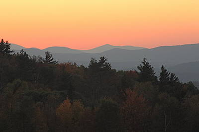 Art Print featuring the photograph Fall Sky At Sunset by Robin Regan