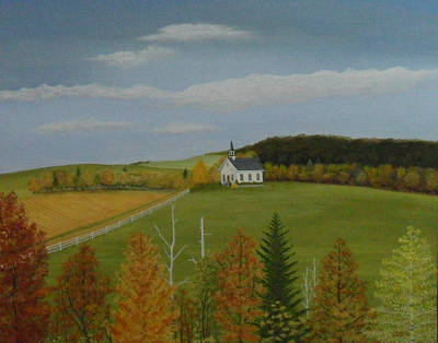 Fall Sunshine Art Print by Dale Lewis