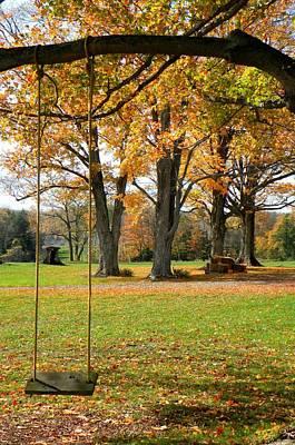 Fall Swing Art Print by Jennifer Compton