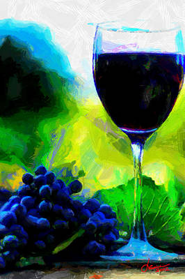 Glass Of Wine Digital Art - Fall Time Again Tnm by Vincent DiNovici