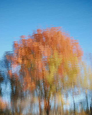 Art Print featuring the photograph Fall Watercolor - Inverted by Mary McAvoy