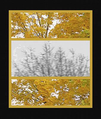 Fall Wind Triptych Art Print by Steve Ohlsen