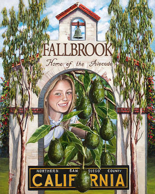 Fallbrook Avos Art Print by Lisa Reinhardt