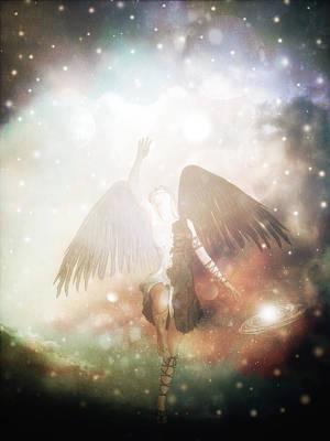 Cs5 Digital Art - Fallen Angel by Lee-Anne Rafferty-Evans