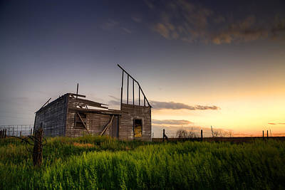 Barn Landscape Photograph - Fallen Barn by Thomas Zimmerman
