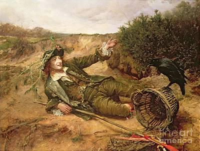 Roadside Painting - Fallen By The Wayside by Edgar Bundy