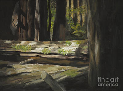 Painting - Fallen Redwood by Rich Arons