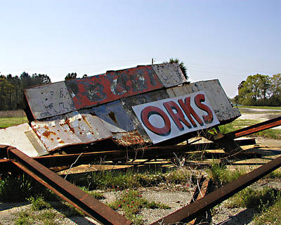 Print featuring the photograph Fallen Sign by Steve Sperry