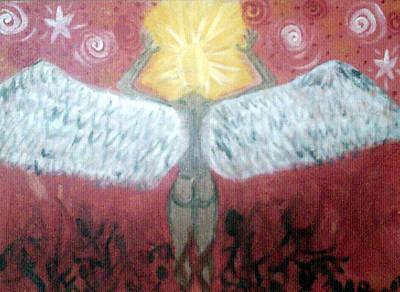 Painting - Fallen by Violette L Meier