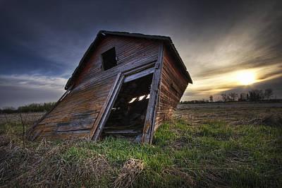 Jul08 Photograph - Falling Granary At Sunrise,  Prairies by Dan Jurak