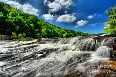 Photograph - Falling In The Youghiogheny by Adam Jewell