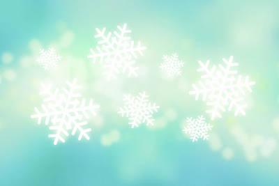 Focus On Foreground Digital Art - Falling Snowflakes by Nicholas Monu