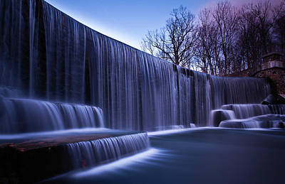 Bare Trees Photograph - Falling Water by Mihai Andritoiu, 2010