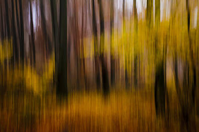 Falling Yellow Art Print