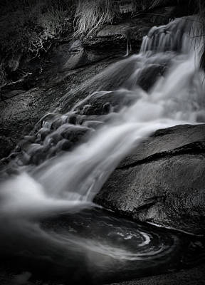Photograph - Falls Black And White by Kym Clarke
