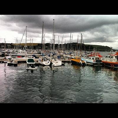 Surface Wall Art - Photograph - #falmouth  #docks #harbour #reflections by Sophie  Jones