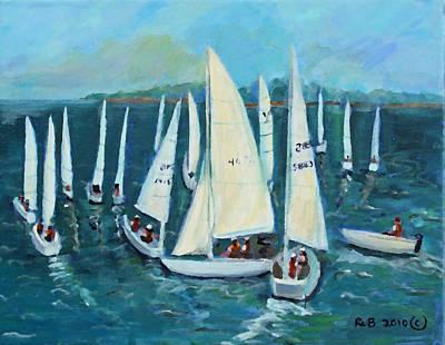 Art Print featuring the painting Falmouth Regatta by Rita Brown