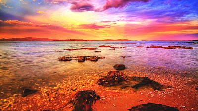 Photograph - Fame Cove Sunset by Paul Svensen
