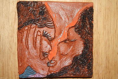 Ceramic Art - Family 14 - Tile by Gloria Ssali