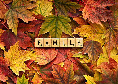 Photograph - Family-autumn Inpsireme by  Onyonet  Photo Studios
