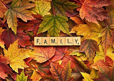 Family-autumn Inpsireme Art Print by  Onyonet  Photo Studios