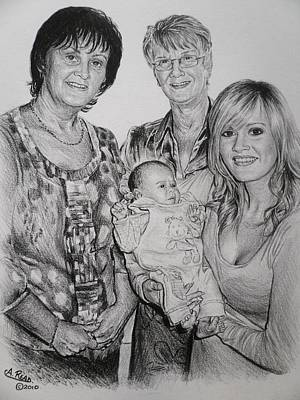 Commission Sketches Drawing - Family Commissions by Andrew Read