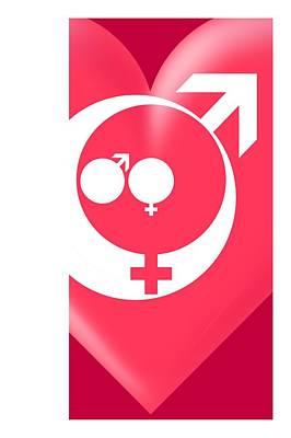 Family Gender And Love Symbols Art Print by Detlev Van Ravenswaay
