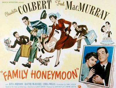 Posth Photograph - Family Honeymoon, Fred Macmurray by Everett