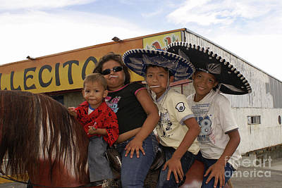 Photograph - Family Horsing Around Managua Nicaragua by John  Mitchell