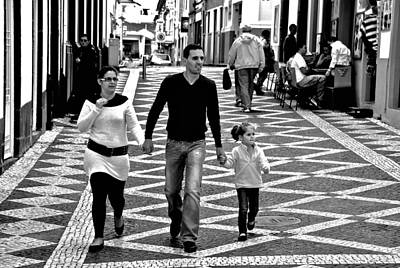 Photograph - Family In The Azores by Eric Tressler