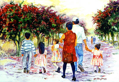 Mexican Decoration Painting - Family Love Union Familiar by Estela Robles