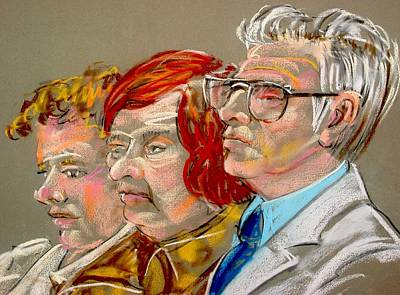 Painting - Family Of The Defendant  by Les Leffingwell