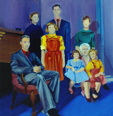 Painting - Family Portrait Painted 1977 by Nancy Griswold